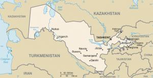 Mappa Uzbekistan