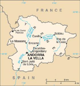 Mappa Andorra