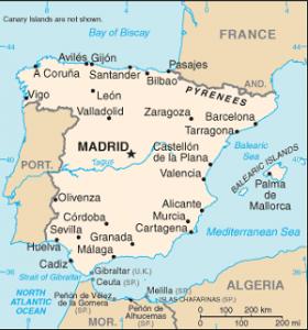 Mappa Spagna